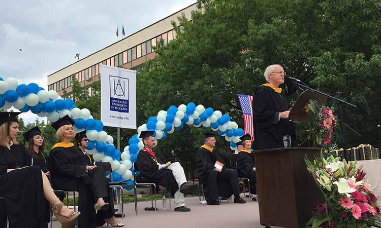 Церемония по дипломиране на студентите от Американския университет в България