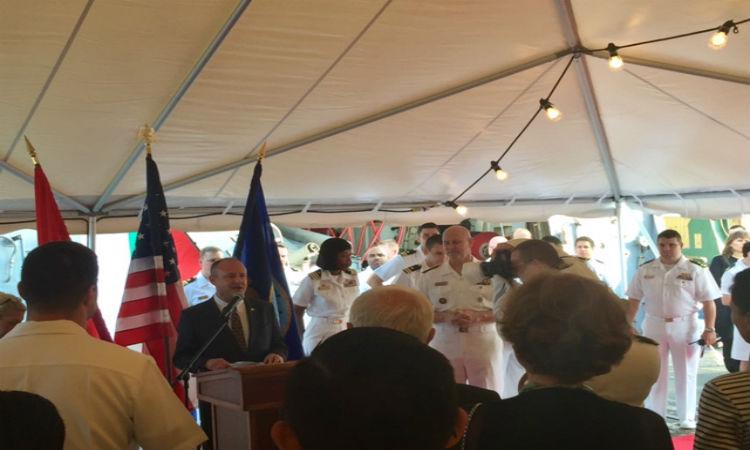 """Американският боен кораб """"Оскар Остин"""" на посещение във Варна"""