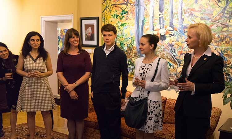 U.S. Embassy Sofia Holds a Reception in Honor of the Elizabeth Kostova Foundation